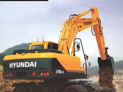 بیل مکانیکی هیوندا چرخ لاستیکی R210W-9S