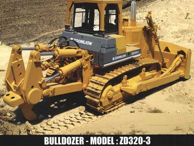بولدوزر مدل ZD320-3 با موتور کامینز